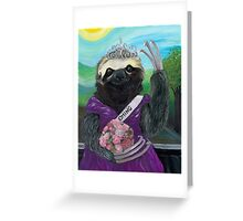 Gretta Slothenstien the Homecoming Queen Greeting Card