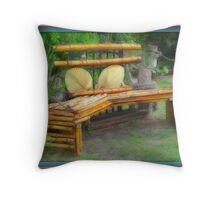 Wood Art Throw Pillow