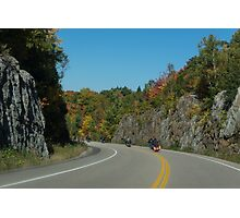 Road Trip - Bikers Know the Best Roads Photographic Print