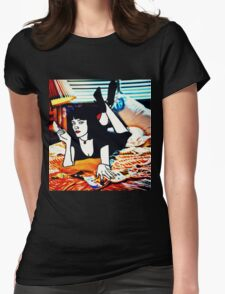 Pulp Fiction Mia Wallace Womens Fitted T-Shirt