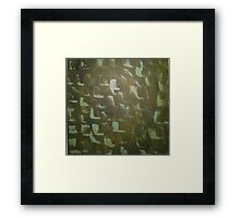 Green Angles Framed Print