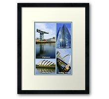 Glasgow Sights ~ Top 10 Challenge Winner in The World As We See It or as we missed it. Framed Print