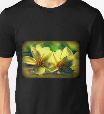 Painted Frangipanis - Still Life Unisex T-Shirt