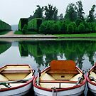 Boat Trio in the Palace of Versailles Gardens by Laura Cooper