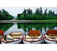 Boat Trio in the Palace of Versailles Gardens Photographic Print