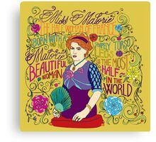 Malorie the Half Woman of France Canvas Print
