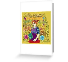Malorie the Half Woman of France Greeting Card