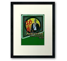 Kung Fu vintage 'aged' version Framed Print