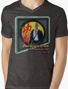 Kung Fu vintage 'aged' version Mens V-Neck T-Shirt