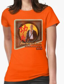 Kung Fu vintage 'aged' version Womens Fitted T-Shirt