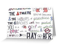 Mia Hamm Quote Art Greeting Card