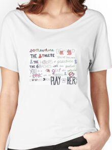 Mia Hamm Quote Art Women's Relaxed Fit T-Shirt
