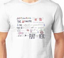 Mia Hamm Quote Art Unisex T-Shirt