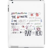 Mia Hamm Quote Art iPad Case/Skin