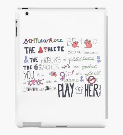 Mia Hamm Quote Art iPad Case/Skin