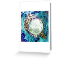 Christmas at the Natural History Museum Oxford - Planet Greeting Card