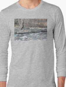 Twisted Tree Along the River Bend Long Sleeve T-Shirt