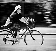 Riding home by Milos Markovic