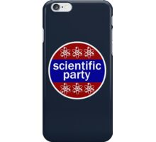 scientific party distressed iPhone Case/Skin
