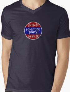 scientific party distressed Mens V-Neck T-Shirt
