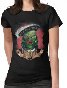 Renaissance Victorian Portrait - Creature from the Black Lagoon Womens Fitted T-Shirt