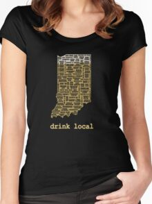 Drink Local - Indiana Beer Shirt Women's Fitted Scoop T-Shirt