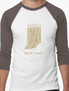 Drink Local - Indiana Beer Shirt Men's Baseball ¾ T-Shirt