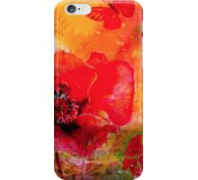 Saving The World...Poppies iPhone Case/Skin