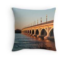 MacArthur Bridge At Sunset Throw Pillow