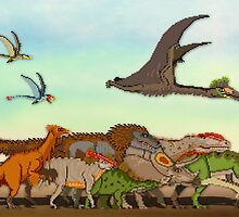 Mesozoic Procession by Moppo