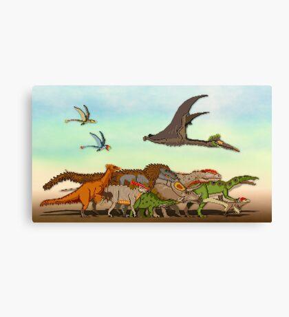Mesozoic Procession Canvas Print