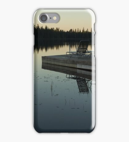 Empty - Reflecting on Sunset Serenity iPhone Case/Skin
