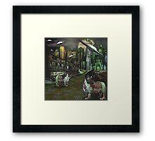 Zombie Sheep Of Oz Framed Print