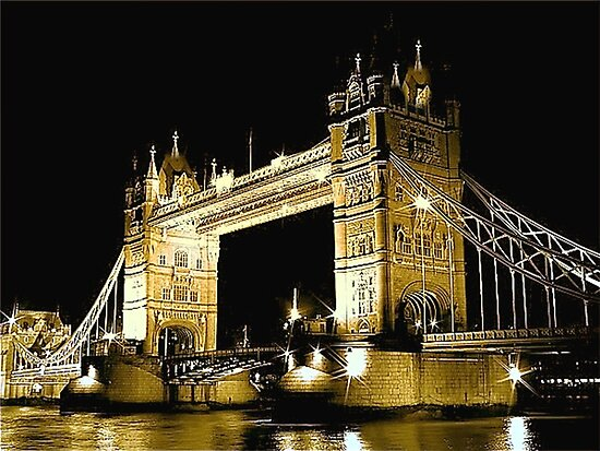 TOWER BRIDGE LONDON / GOLD by Scott  d'Almeida
