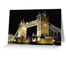 TOWER BRIDGE LONDON / GOLD Greeting Card