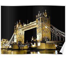 TOWER BRIDGE LONDON / GOLD Poster
