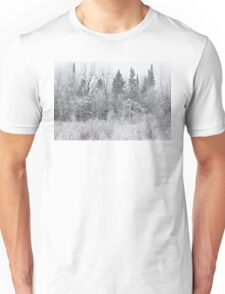 Wintry Roadside Unisex T-Shirt