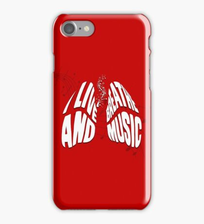I Live and Breathe Music iPhone Case/Skin