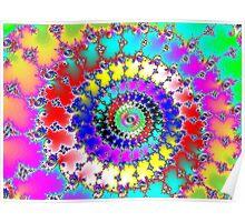 Rainbow Pin wheel Poster