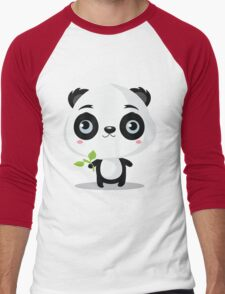 Pandas like bamboo sticks Men's Baseball ¾ T-Shirt