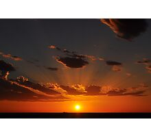 Sunset Over The Indian Ocean Photographic Print