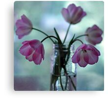 Tulips in the kitchen iii Canvas Print