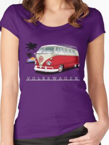 Red & White 11 Window Women's Fitted Scoop T-Shirt