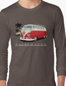 Red & White 11 Window Long Sleeve T-Shirt