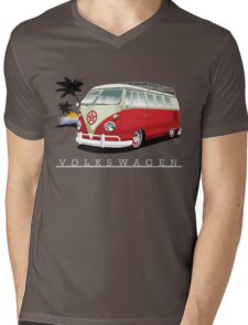 Red & White 11 Window Mens V-Neck T-Shirt