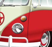 Red & White 11 Window Sticker