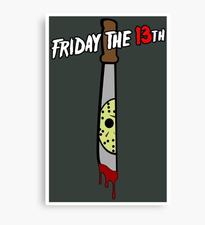 Wlcome to Camp Crystal Lake Canvas Print