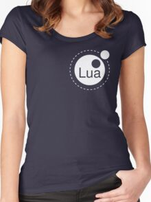 Lua Programming Language Logo Women's Fitted Scoop T-Shirt