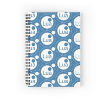 Lua Programming Language Logo Spiral Notebook