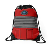 Not a robot. Red. Inspired by Daleks. Drawstring Bag